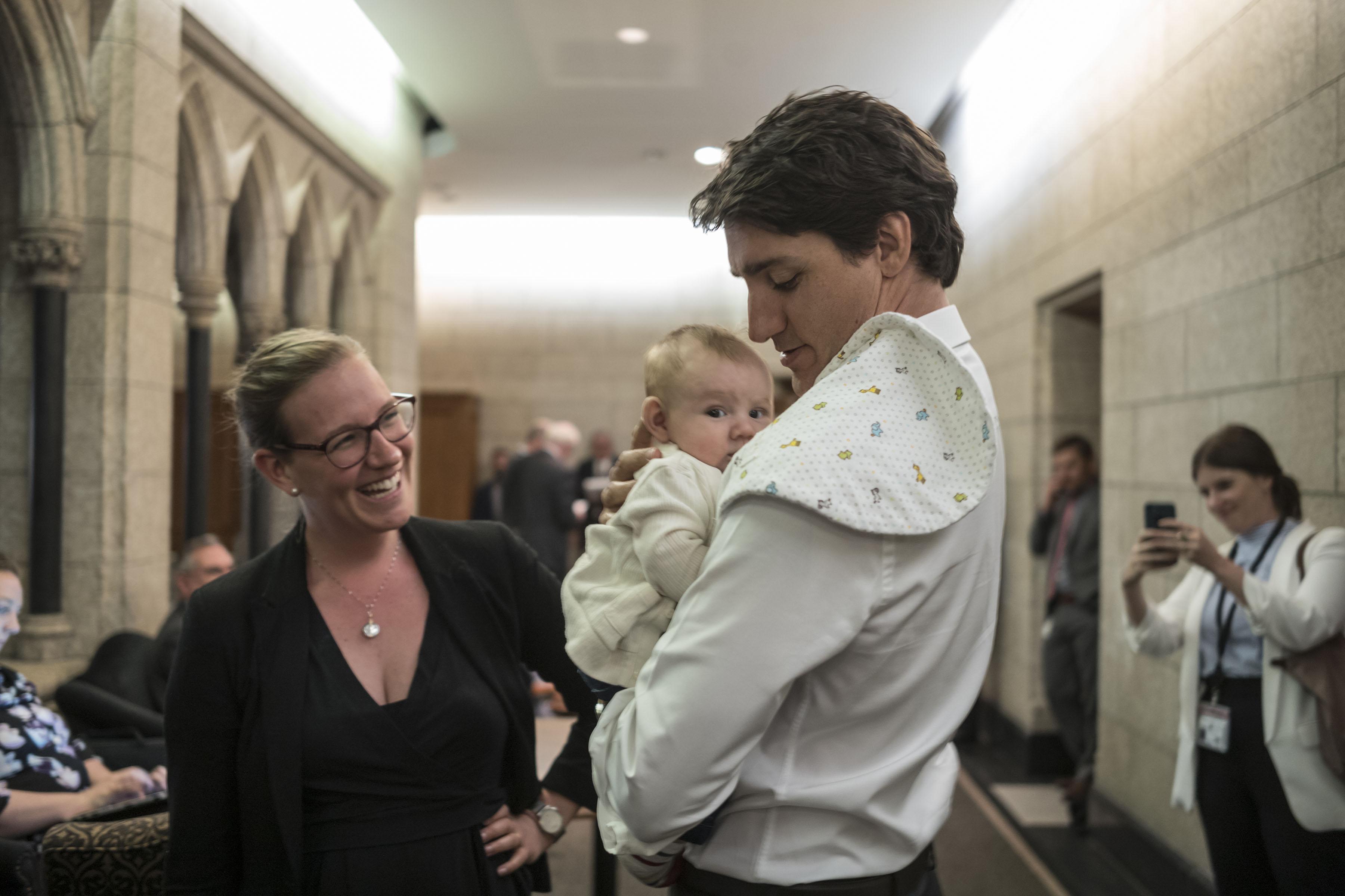 كارينا جولد مع رئيس وزراء كندا