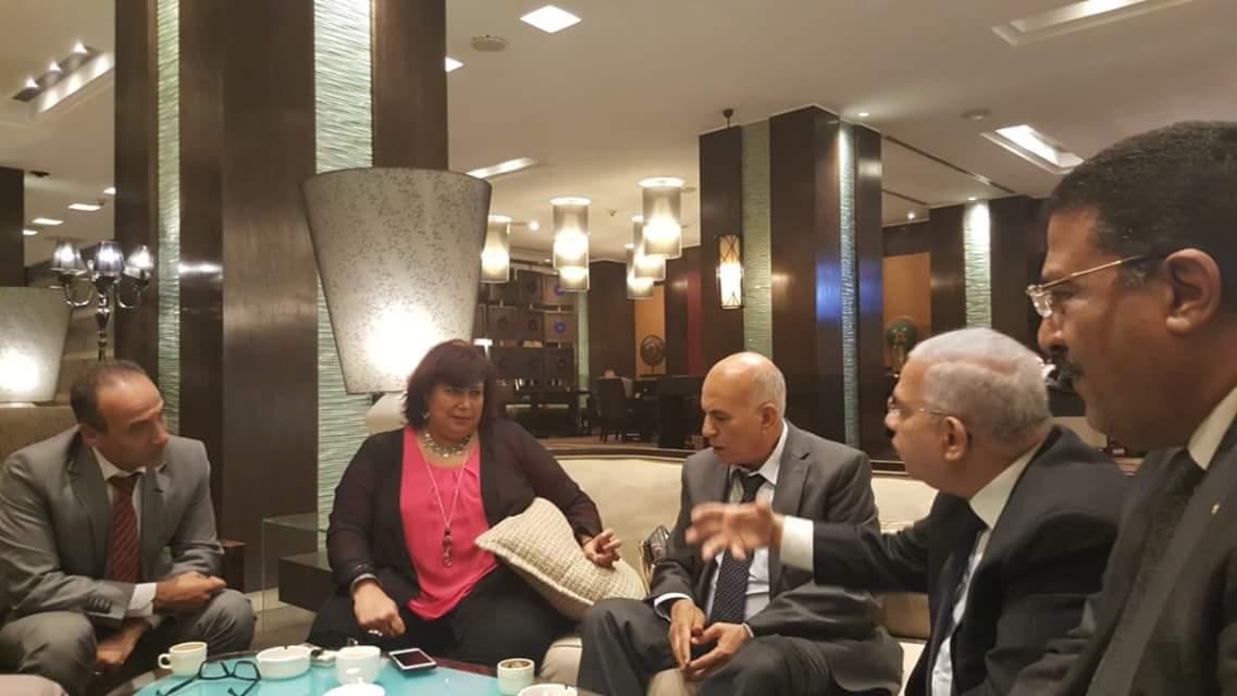 خلال لقاء وزيرة الثقافة مع رؤساء الاتحادات (3)