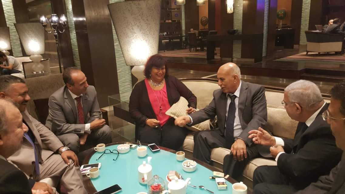 خلال لقاء وزيرة الثقافة مع رؤساء الاتحادات (1)