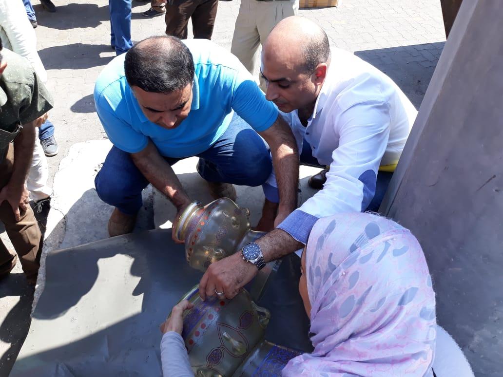جمارك دمياط تضبط مشكاوتين مسروقتين من مسجد الرفاعى