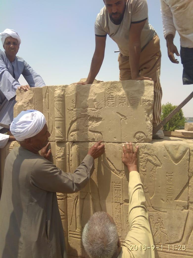 نقل الكتل الأثرية