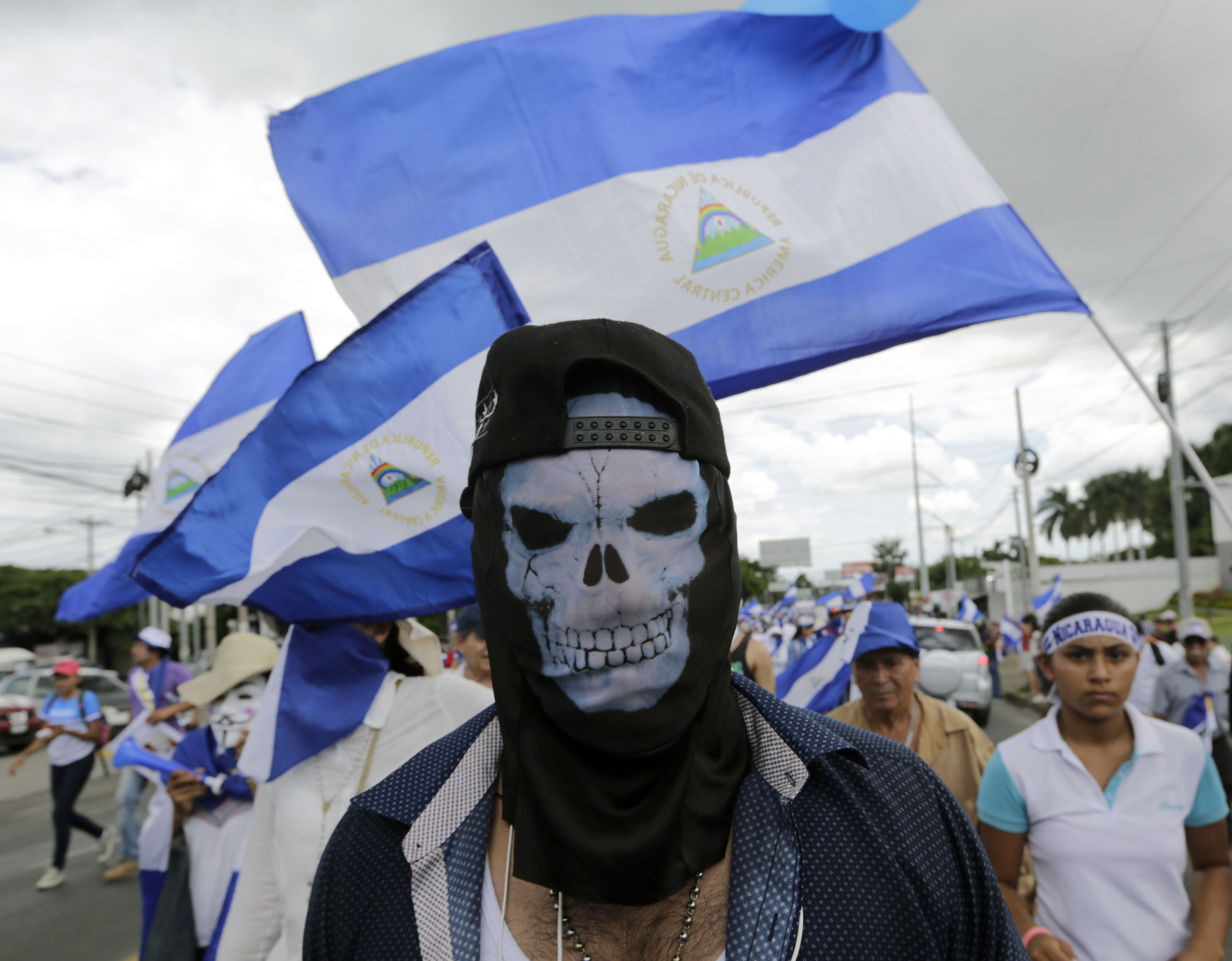 جانب من احتجاجات نيكاراجوا