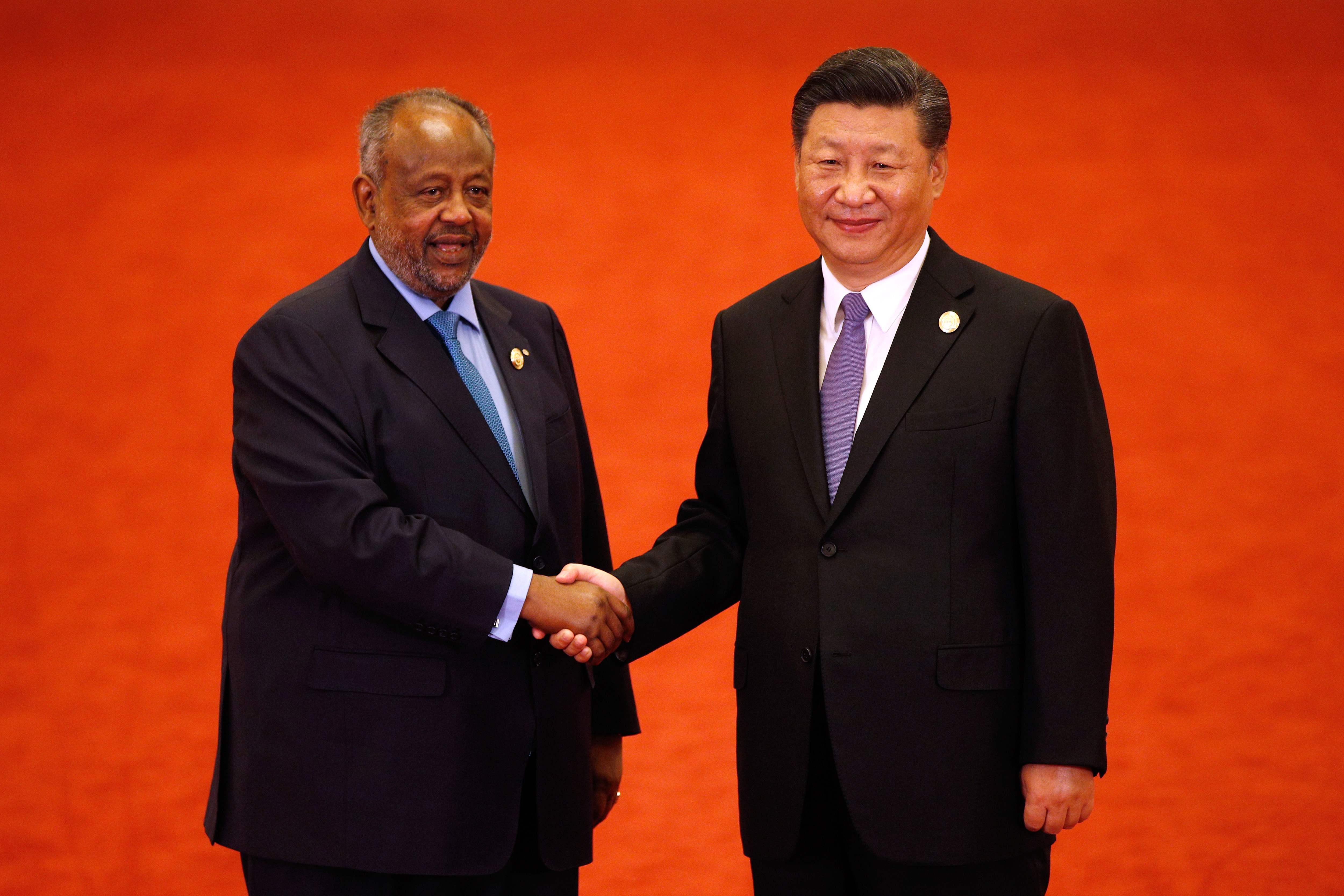 رئيس جيبوتى والرئيس الصينى