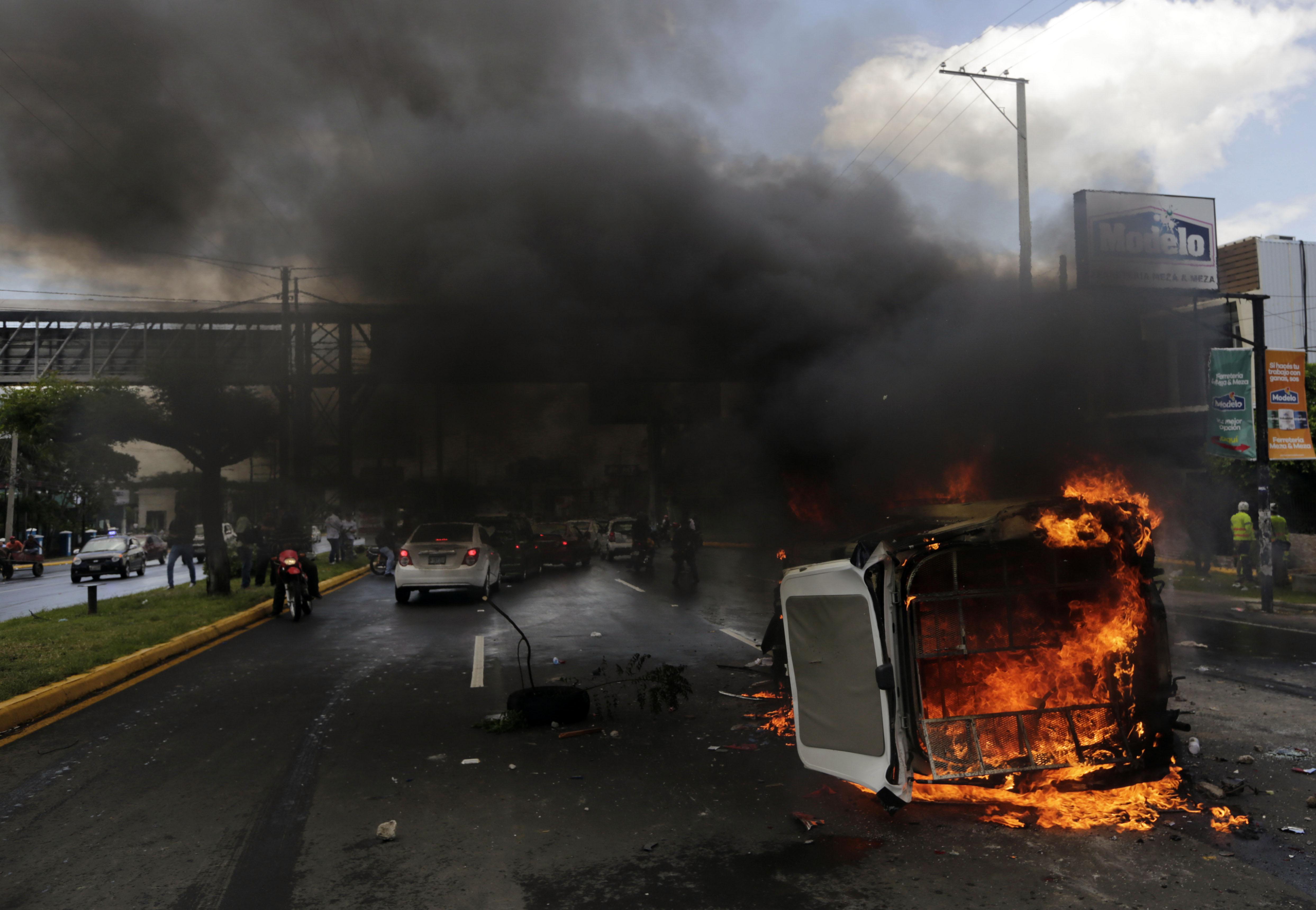 العنف فى مظاهرات نيكاراجوا