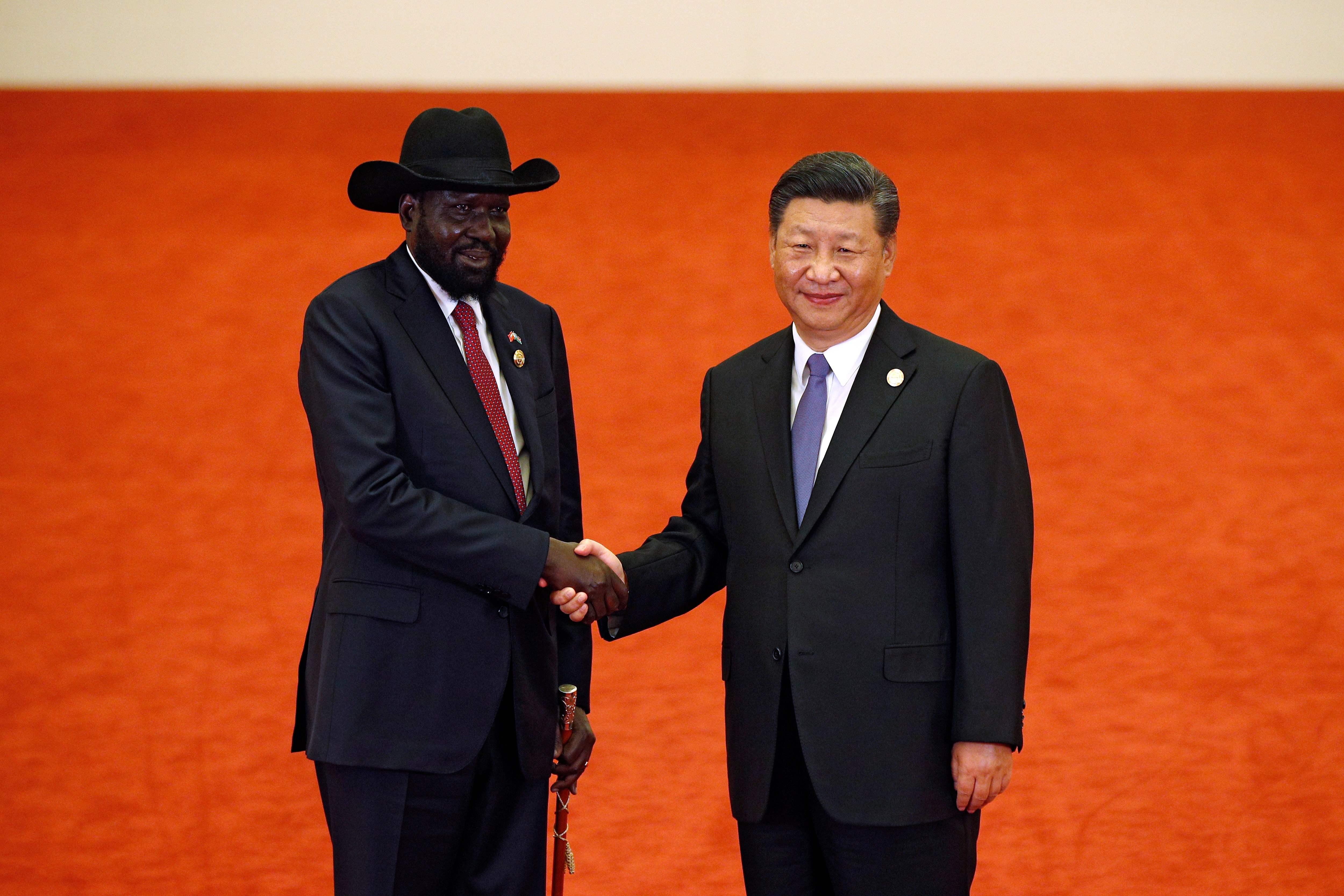 رئيس جنوب السودان ورئيس الصين