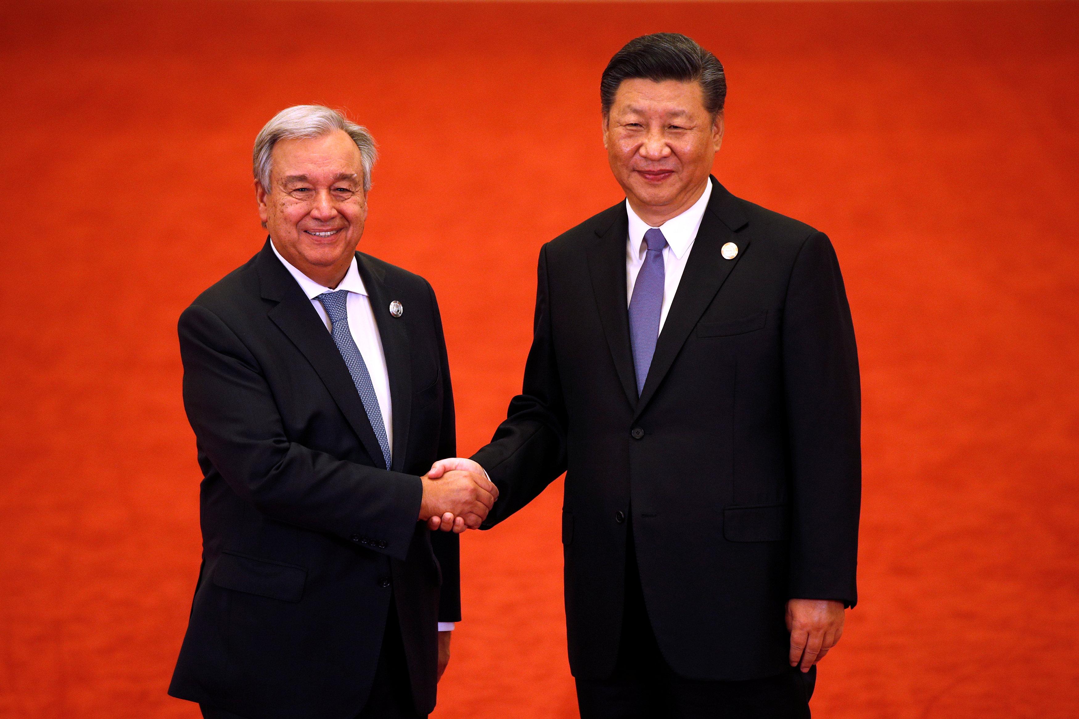 جوتيريس ورئيس الصين