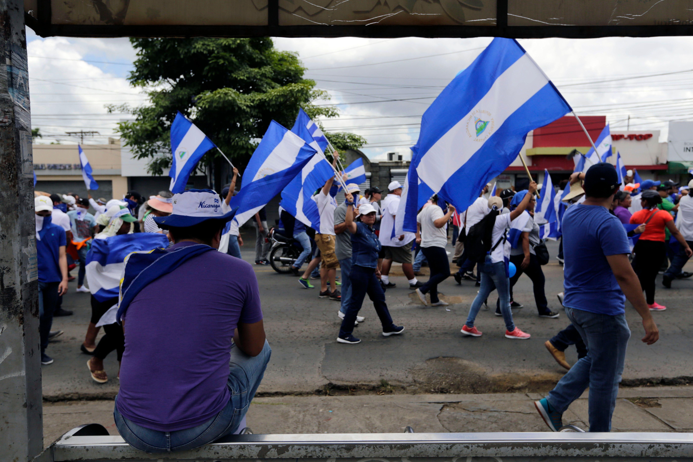 مسيرة ضد الرئيس فى نيكاراجوا