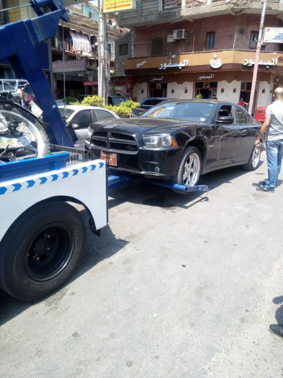 حملات مرور ورفع سيارات مخالفة