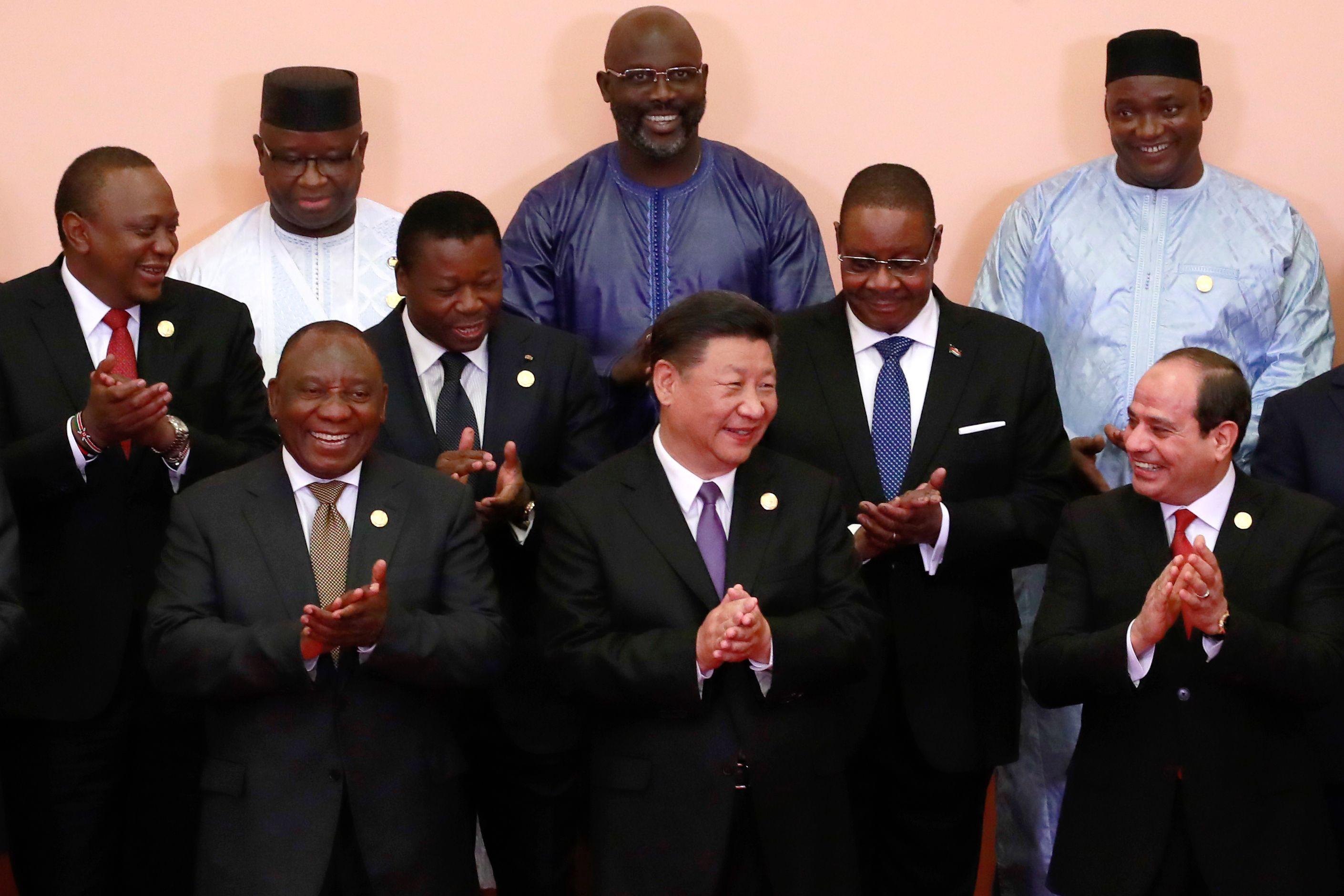 الرئيس السيسى  يلتقط الصور التذكارية بقمة الصين أفريقيا