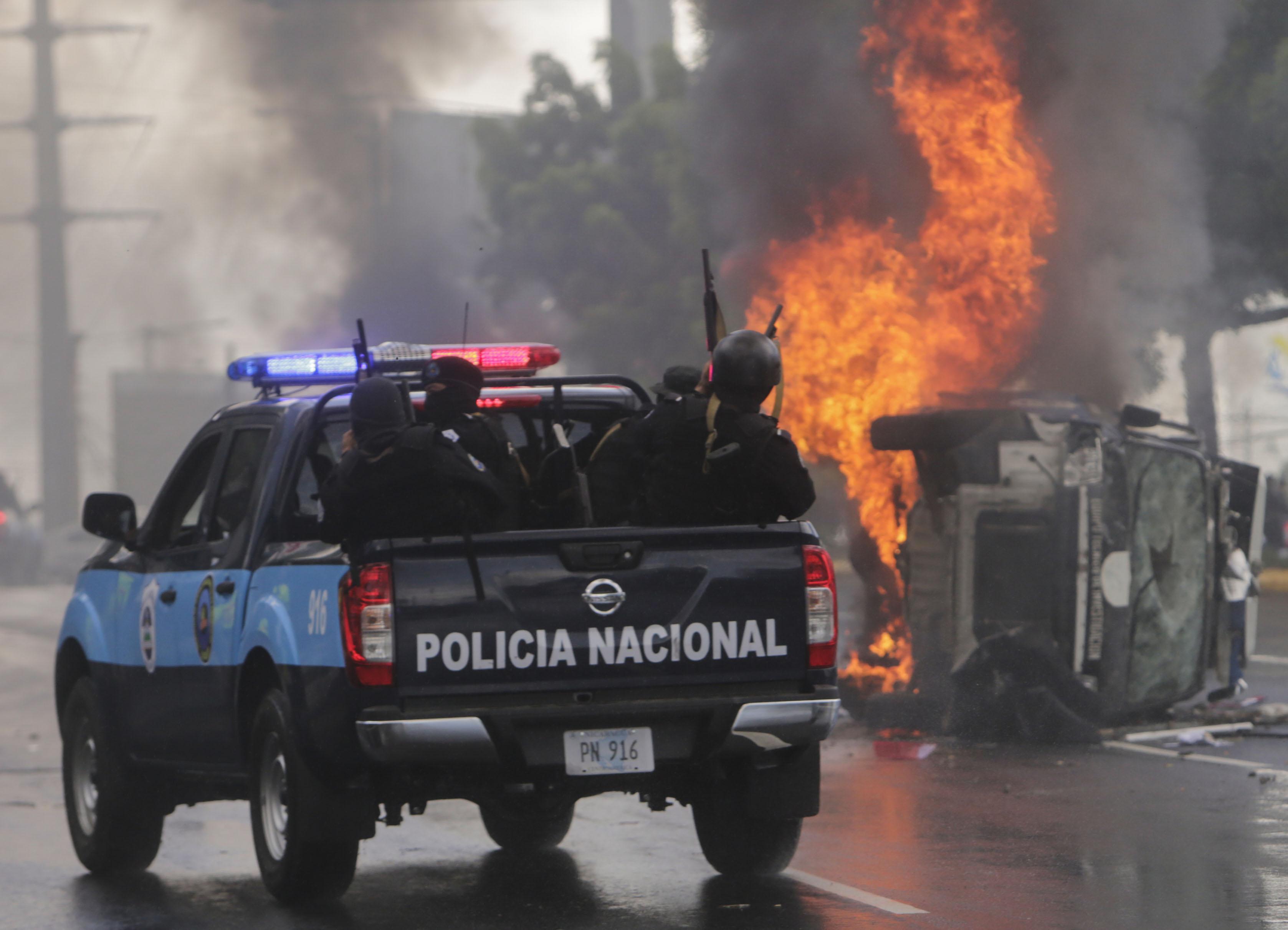 جانب من العنف فى نيكاراجوا