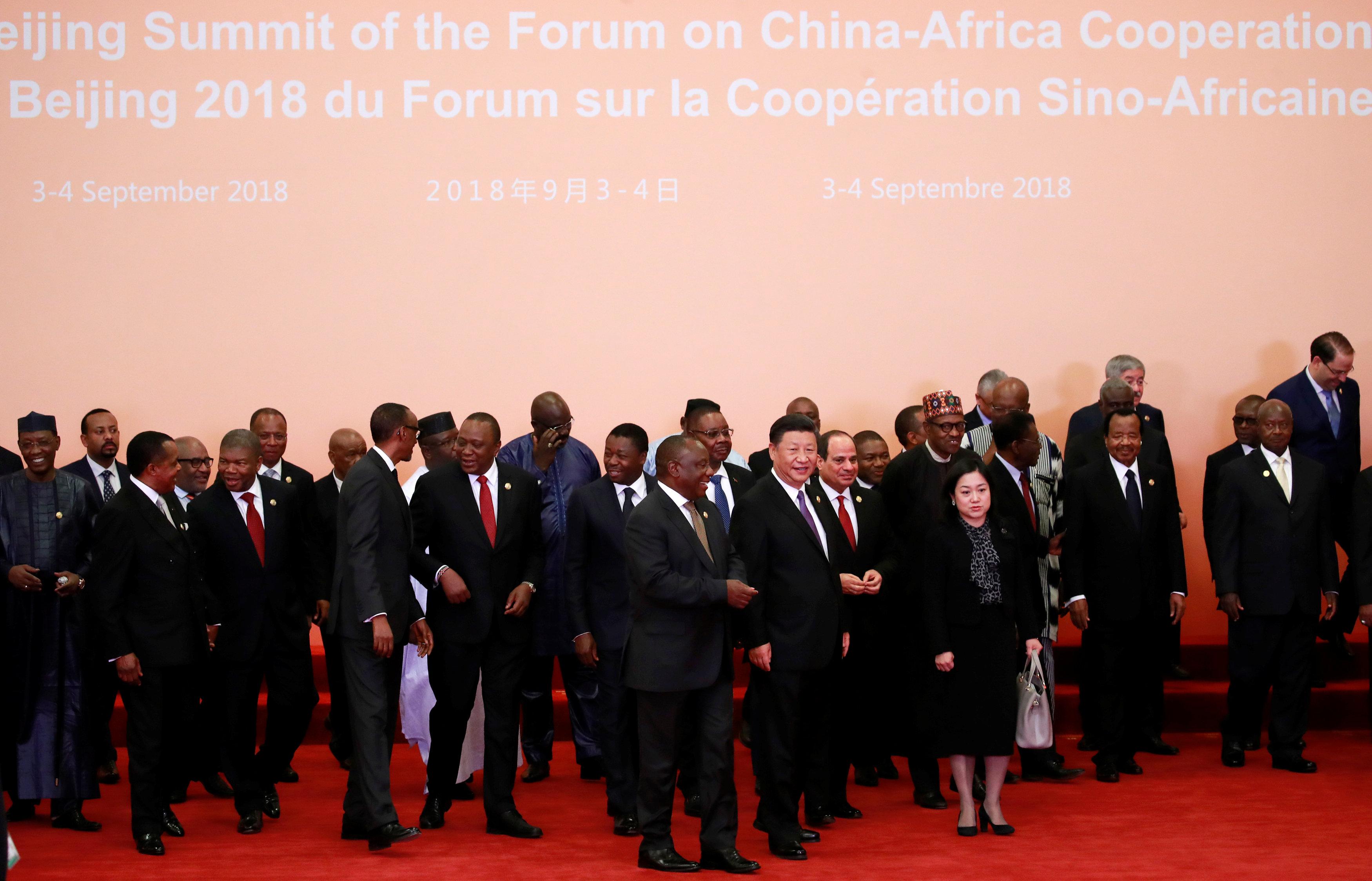 زعماء قمة الصين أفريقيا