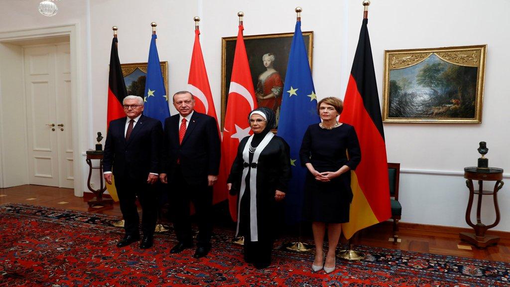 الرئيس التركي أردوغان في ضيافة الرئيس الألماني شتاينماير