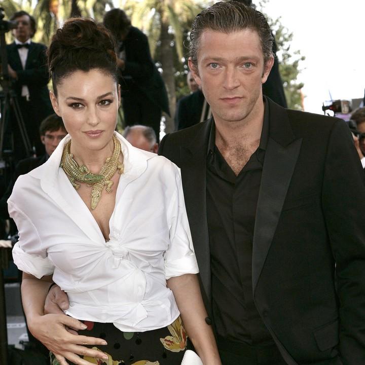 مونيكا بيلوتشى وزوجها قبل انفصالهما