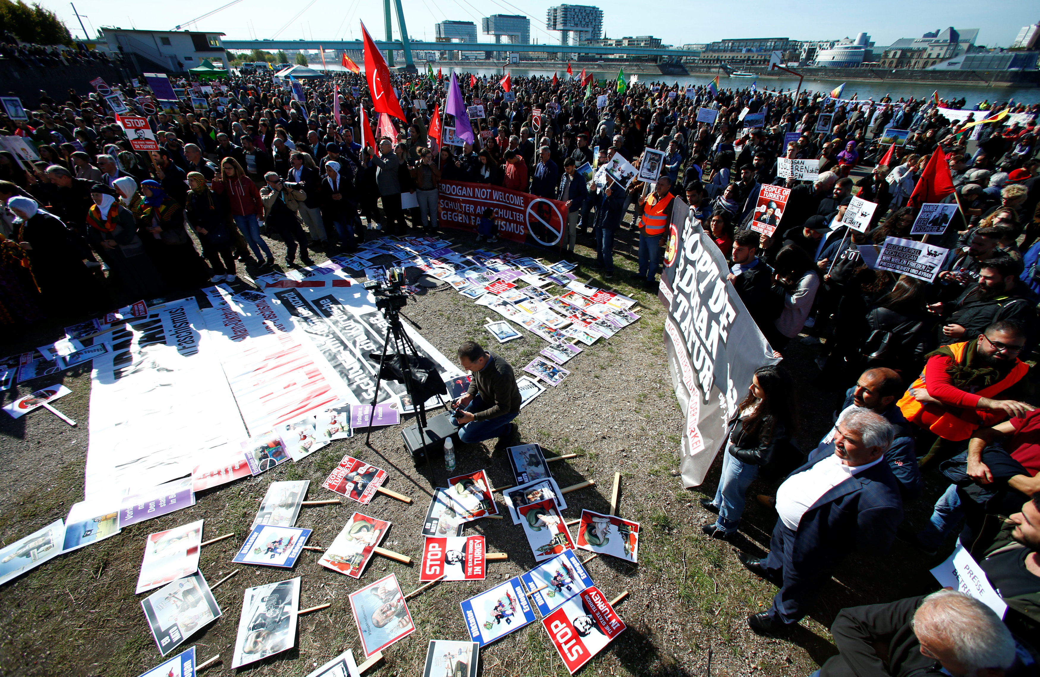 تظاهرات ضد زيارة اردوغان لالمانيا