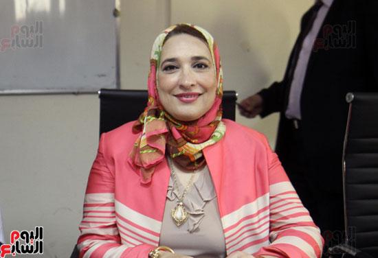 افتتاح احد الاقسام بمركز ذوى الاحتياجات الخاصة بجامعة عين شمس  (6)