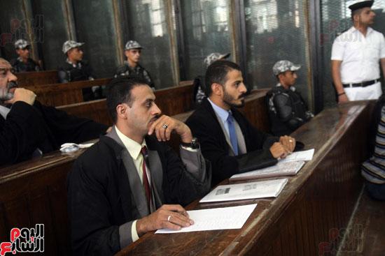 محكمه المتهمين فى احداث مكتب الارشاد (6)