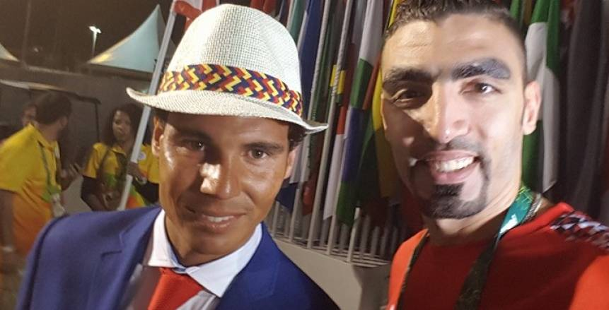 أحمد صلاح بصحبة نجم التنس نادال فى أولمبياد البرازيل