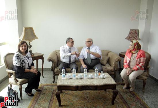 افتتاح احد الاقسام بمركز ذوى الاحتياجات الخاصة بجامعة عين شمس  (4)