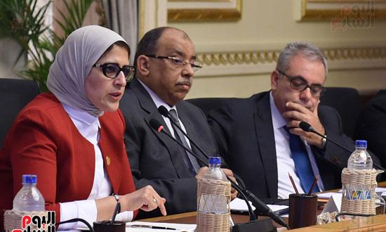 الدكتورة هالة زايد، وزيرة الصحة، إطلاق مبادرة رئيس الجمهورية (7)