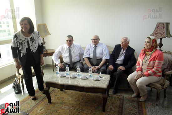افتتاح احد الاقسام بمركز ذوى الاحتياجات الخاصة بجامعة عين شمس  (5)