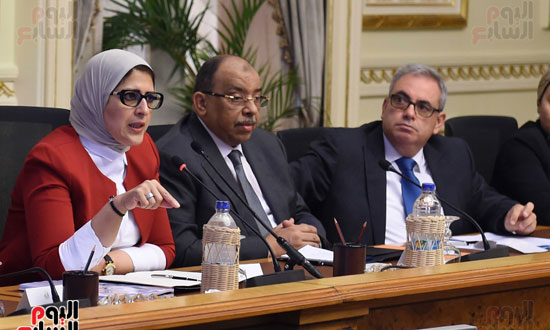 الدكتورة هالة زايد، وزيرة الصحة، إطلاق مبادرة رئيس الجمهورية (9)