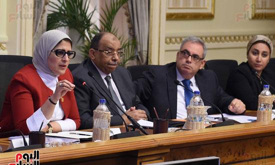 الدكتورة هالة زايد، وزيرة الصحة، إطلاق مبادرة رئيس الجمهورية (8)