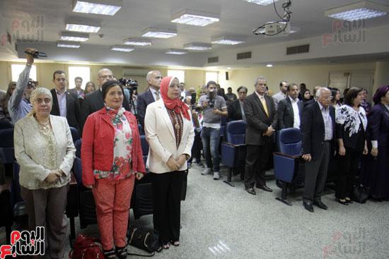 افتتاح احد الاقسام بمركز ذوى الاحتياجات الخاصة بجامعة عين شمس  (10)