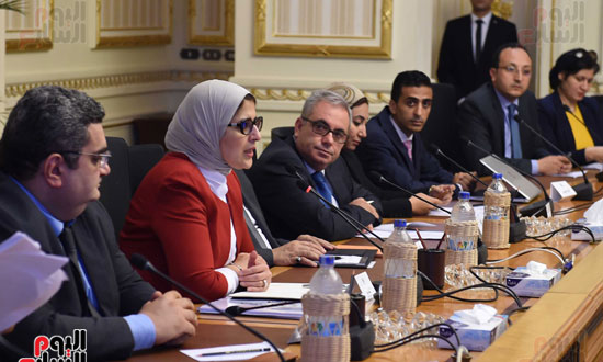 الدكتورة هالة زايد، وزيرة الصحة، إطلاق مبادرة رئيس الجمهورية (4)
