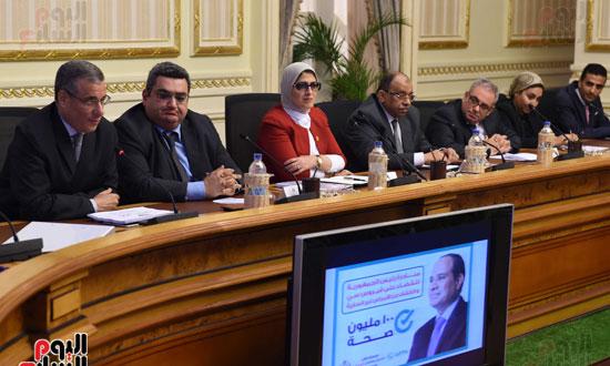 الدكتورة هالة زايد، وزيرة الصحة، إطلاق مبادرة رئيس الجمهورية (13)