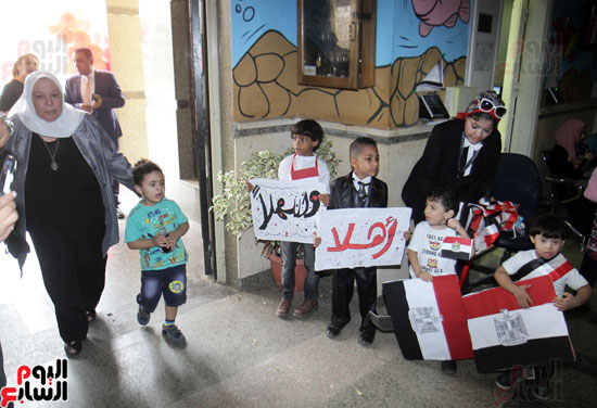 افتتاح احد الاقسام بمركز ذوى الاحتياجات الخاصة بجامعة عين شمس  (2)