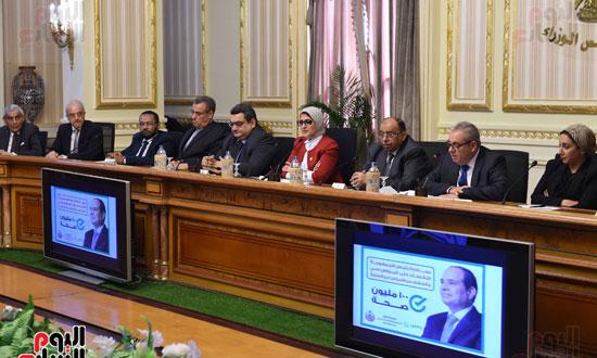 الدكتورة هالة زايد، وزيرة الصحة، إطلاق مبادرة رئيس الجمهورية (10)
