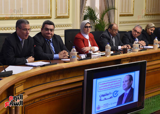الدكتورة هالة زايد، وزيرة الصحة، إطلاق مبادرة رئيس الجمهورية (12)