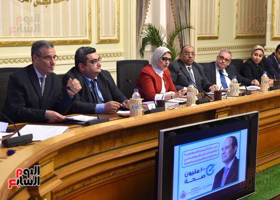 الدكتورة هالة زايد، وزيرة الصحة، إطلاق مبادرة رئيس الجمهورية (14)