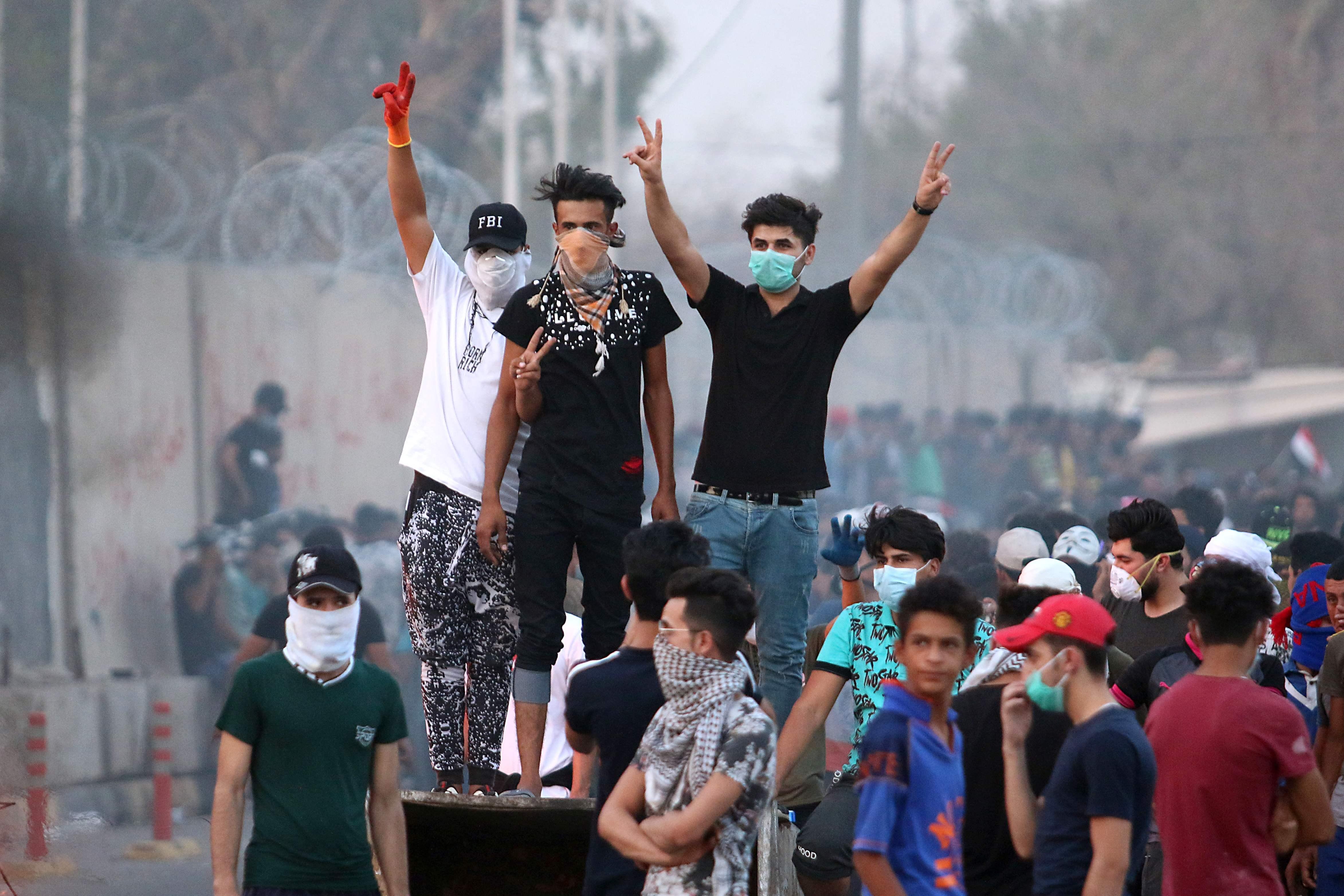 جانب من المظاهرات العراقية