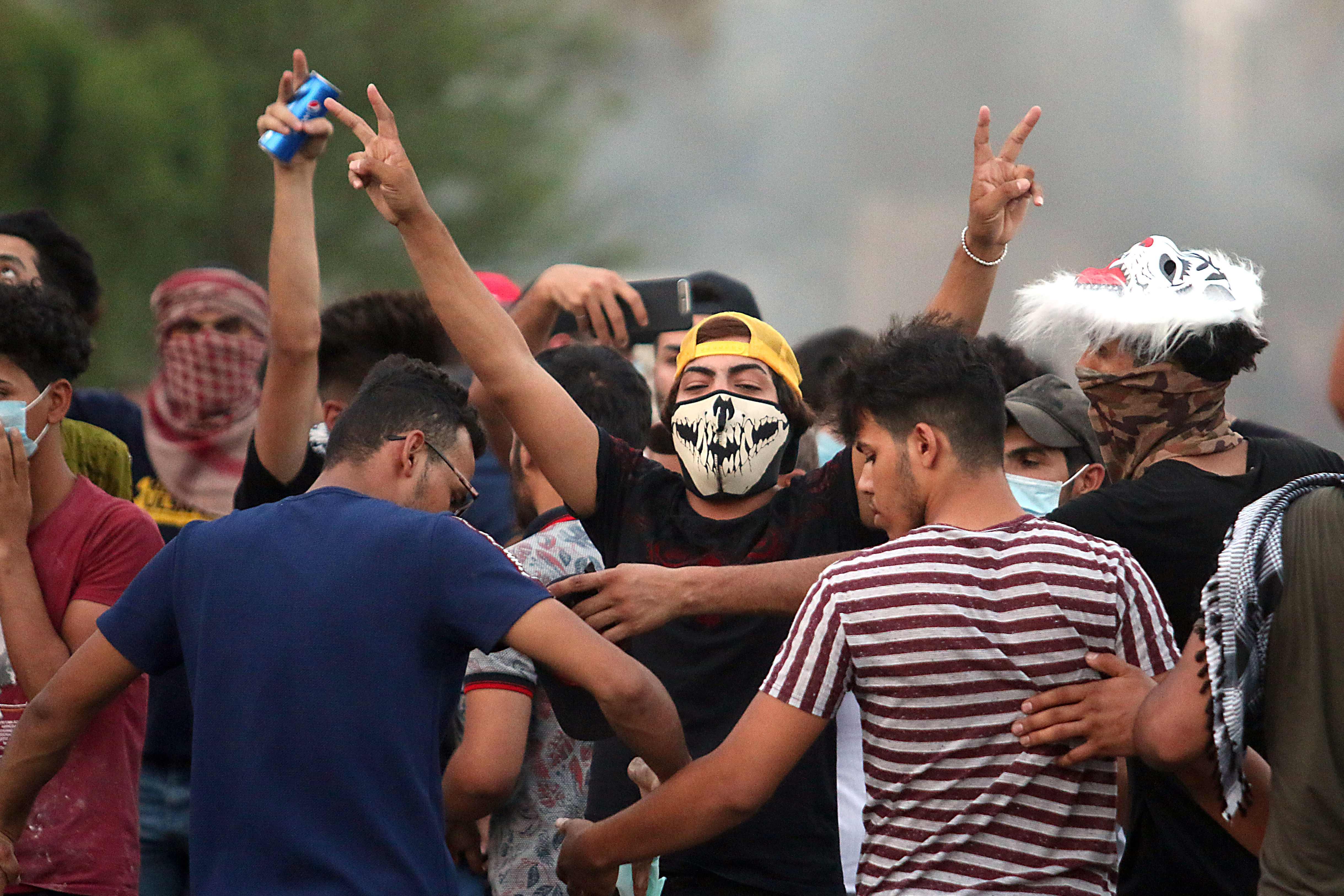 جانب من احتجاجات العراق