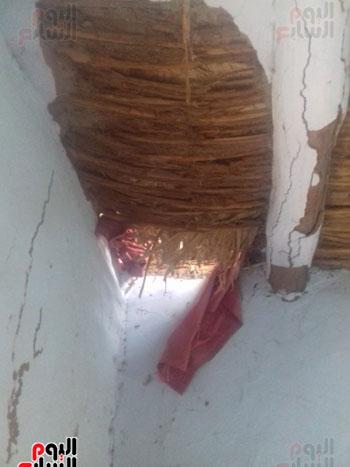 انهيار جانب من السقف