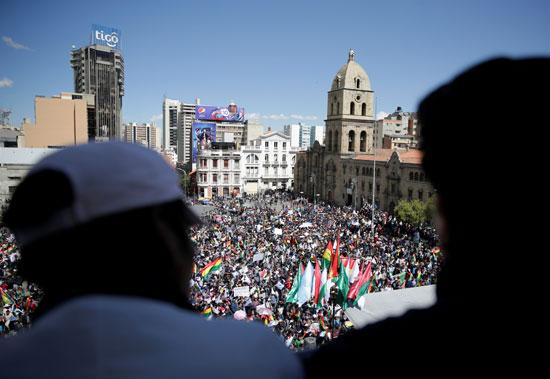 جانب من مظاهرات بوليفيا