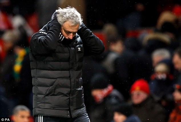 مورينيو مدرب فريق مانشستر يونايتد