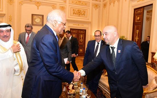 على عبدالعال ورئيس مجلس النواب البحرينى (2)