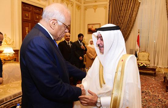 على عبدالعال ورئيس مجلس النواب البحرينى (1)