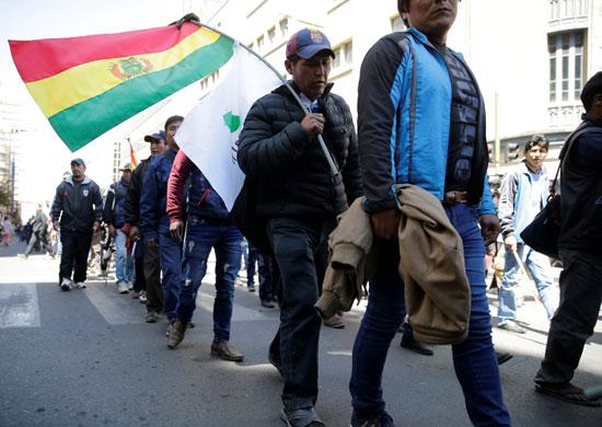 جانب من المتظاهرين