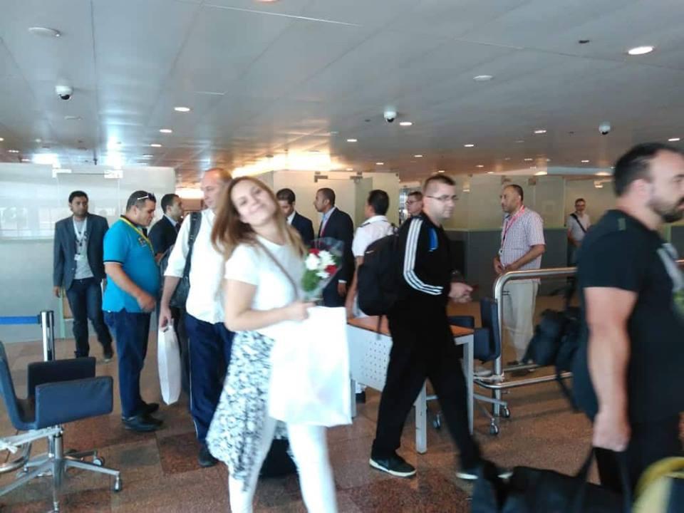 الوفد الصربى يصل مطار الغردقة