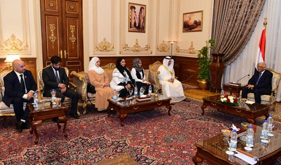 على عبدالعال ورئيس مجلس النواب البحرينى (4)
