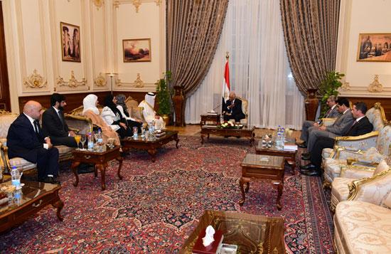 على عبدالعال ورئيس مجلس النواب البحرينى (10)