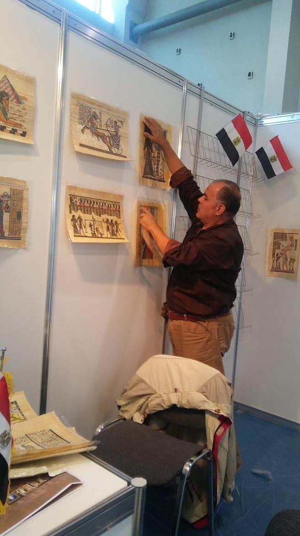 من داخل جناح مصر فى معرض موسكو الدولى للكتاب