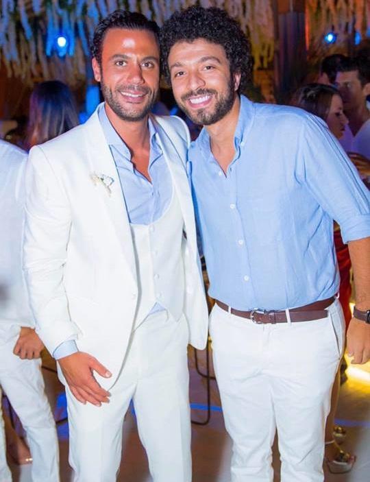 من حفل زفاف محمد إمام (7)