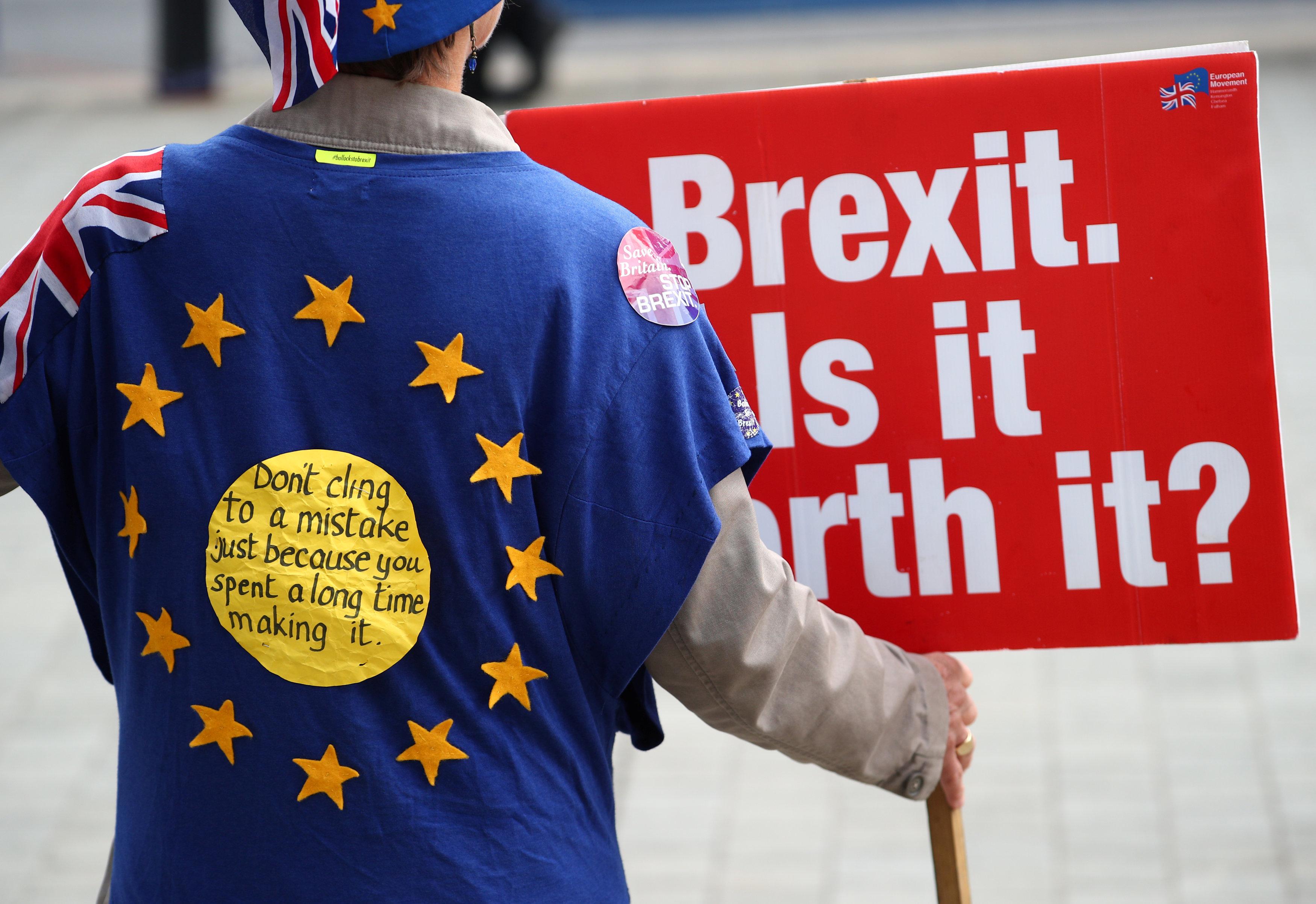 أحد المؤيدين للبقاء فى الاتحاد الأوروبى