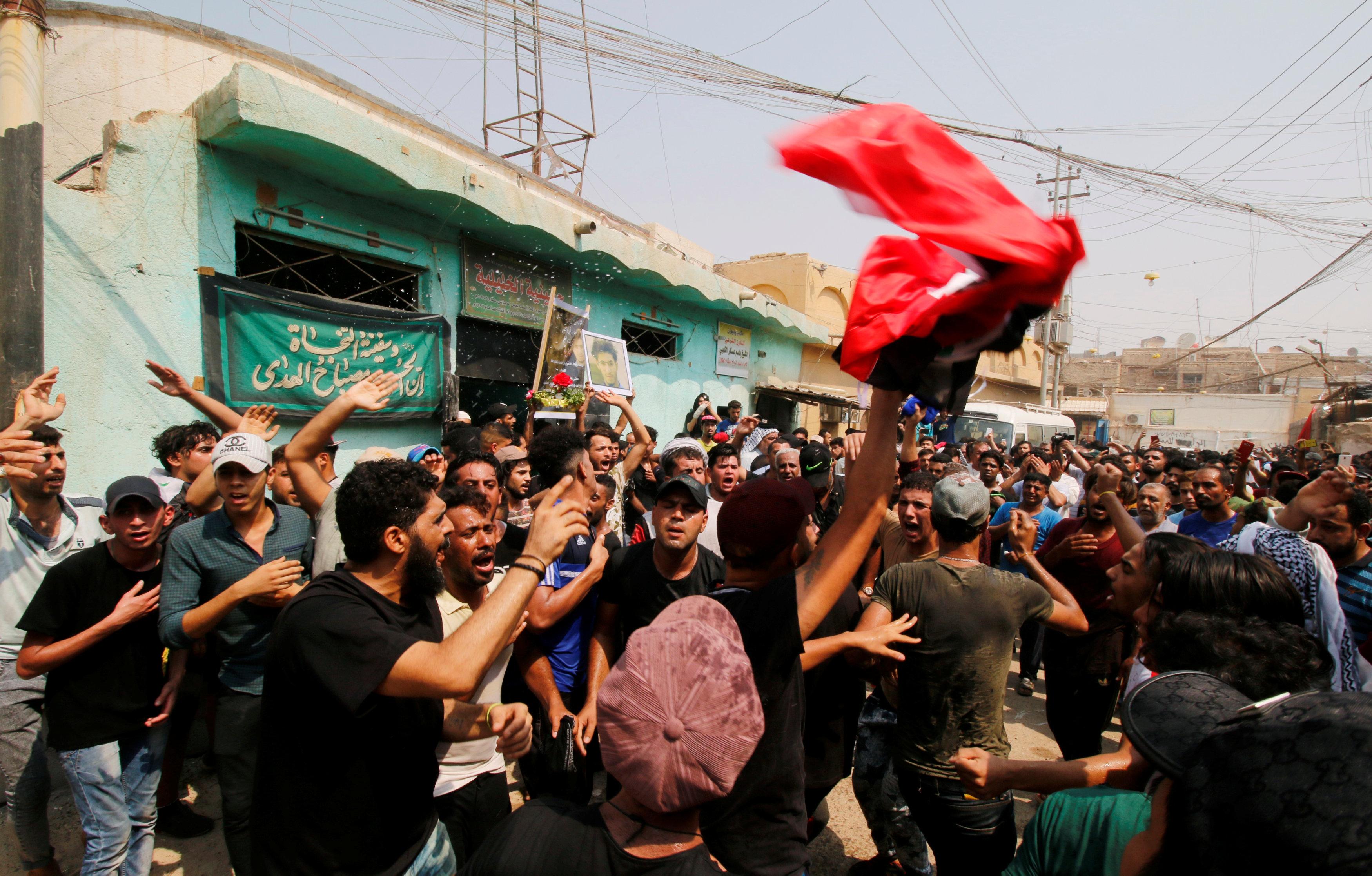 تشييع جثمان قتلى مظاهرات العراق