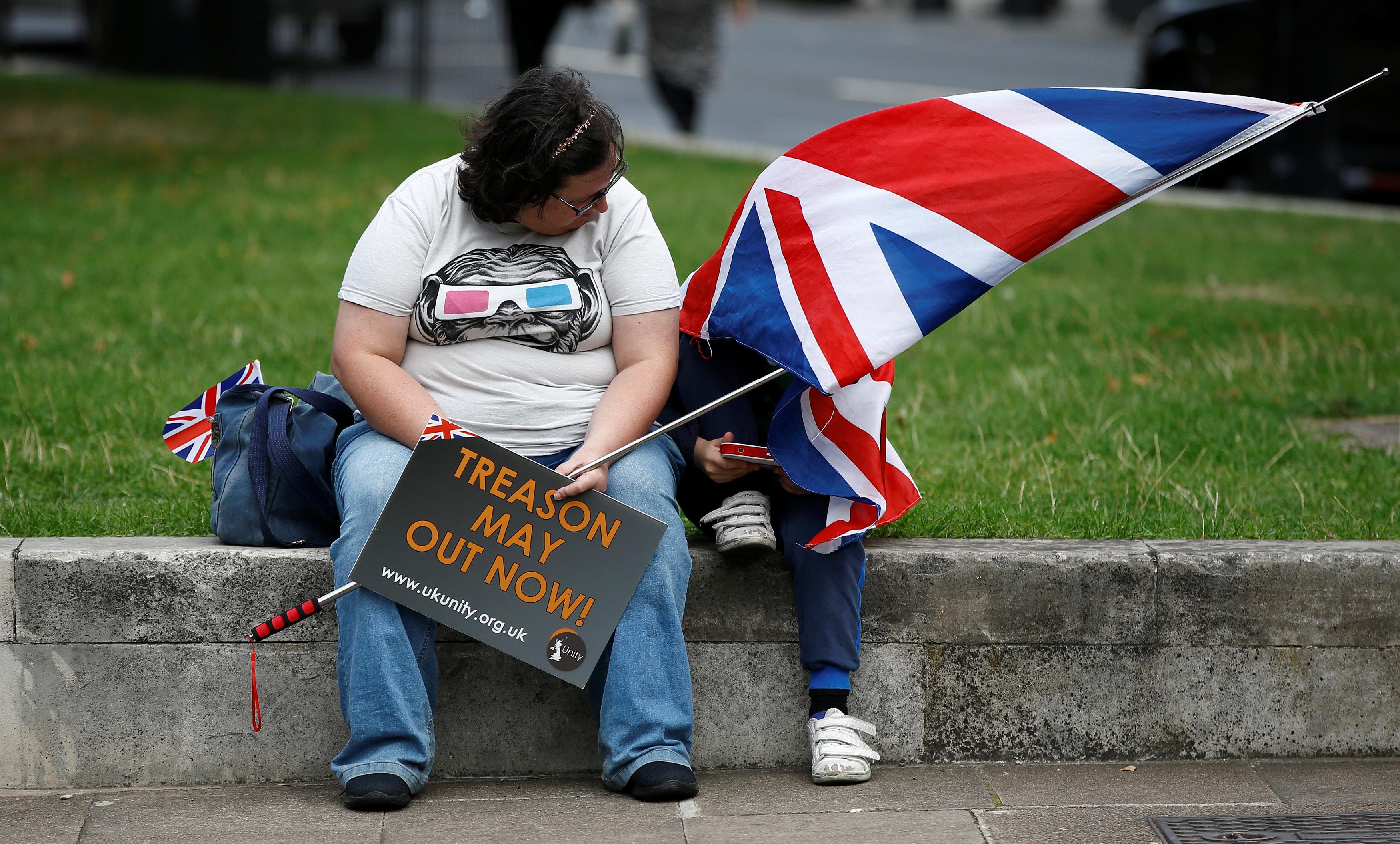 متظاهرة بريطانية