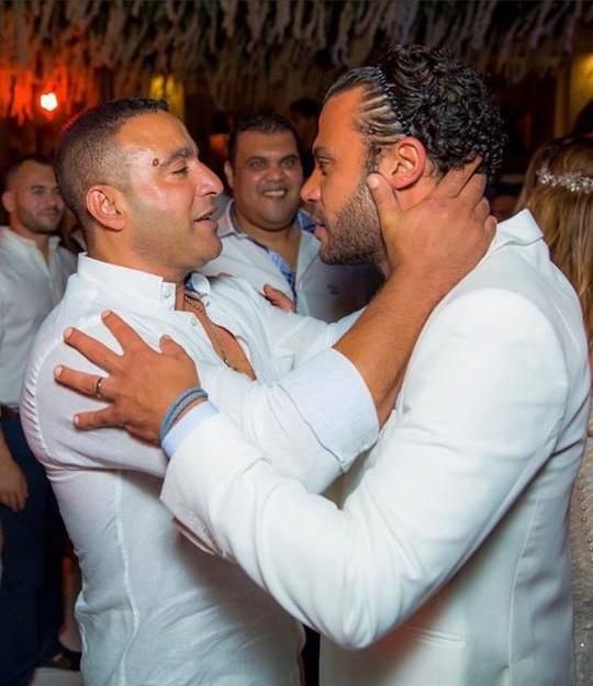 من حفل زفاف محمد إمام (3)